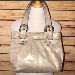 Coach Soho Limited Champagne Shimmer Gallery Tote